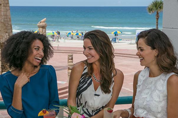 Enjoying Fabulous Cocktails at the Blind Turtle in Daytona Beach