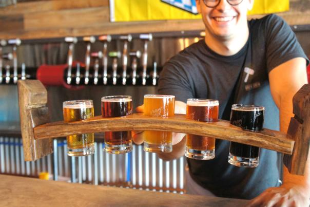 Legal Draft beer flight