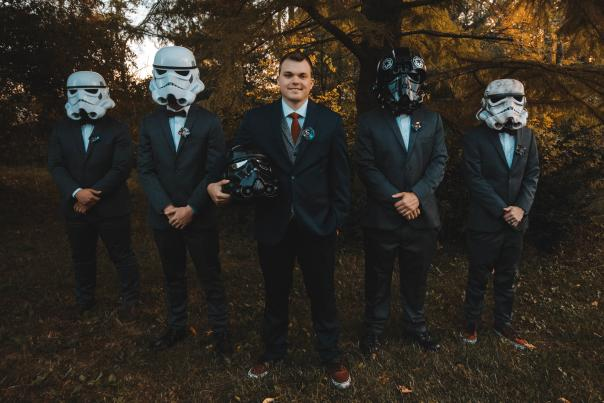 Star Wars wedding theme at Avon Gardens