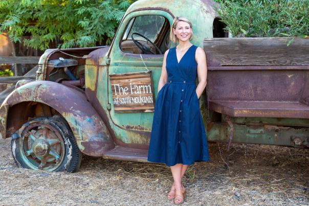 Samantha Brown at The Farm at South Mountain