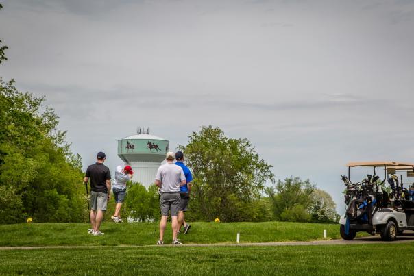 Guys golfing