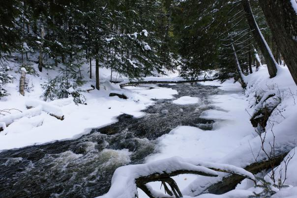 A winter stream in Marquette