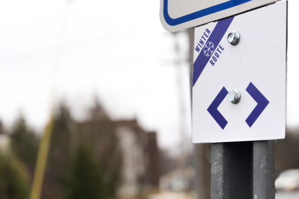 Eau Claire Winter Route Signage