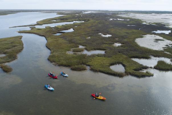 LCRA Matagorda Bay Nature Park -Drone Kayak-H