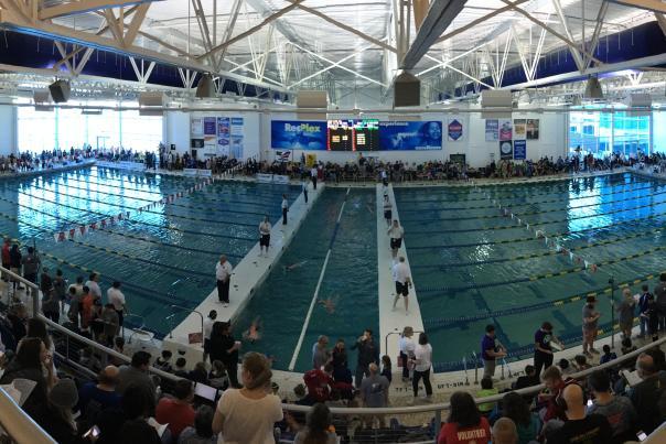 RecPlex Aqua Arena Swim Event Curved Picture