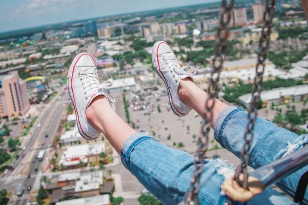 Orlando StarFlyer feet in the air