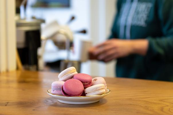 Hetty Arts Pastry macarons at Conjure Coffee in Fort Wayne, Indiana
