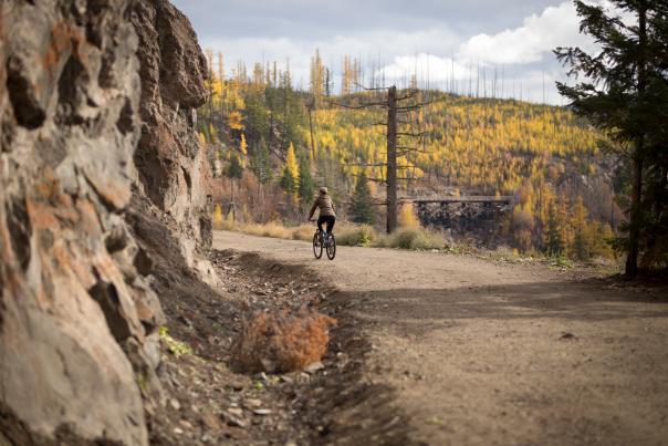 Myra Canyon Trestles in Fall