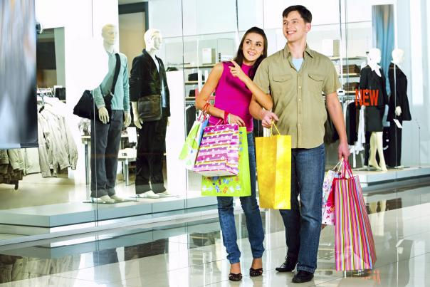 Photo of a couple shopping