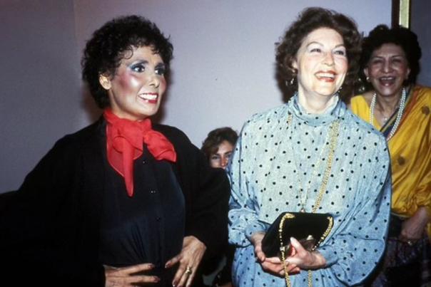 Lena Horne next to Ava Gardner, both smiling