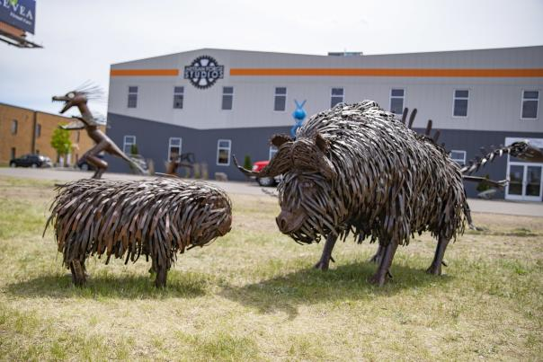 Artisan Forge dinosaur sculptures