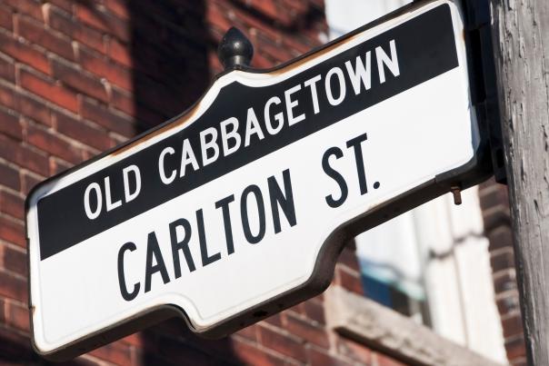 Cabbagetown street sign