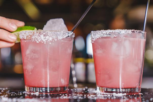 Prickly Pear Margarita at Chelsea's Kitchen