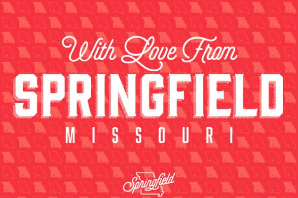 With Love From Springfield Postcard
