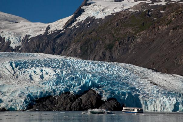 mv Ptarmigan cruising out to Portage Glacier