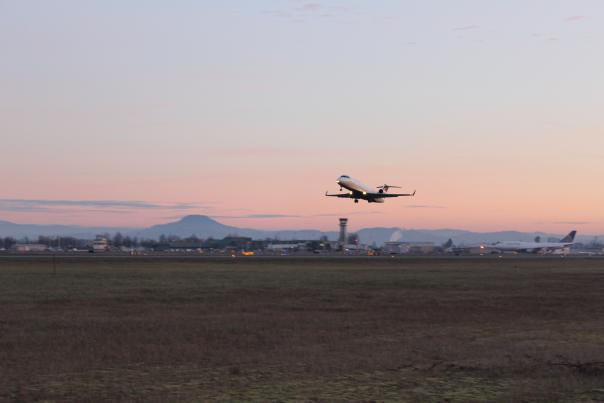 Eugene Airport at Dusk Courtesy of the Eugene Airport