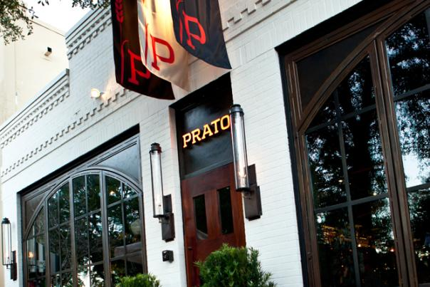 The entrance to Prato restaurant in Winter Park
