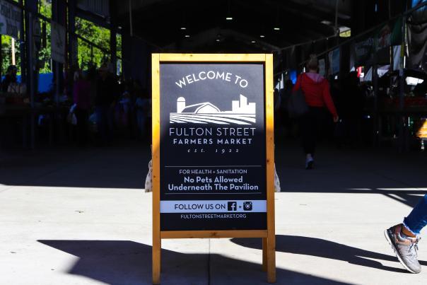 Fulton Street Market Sign