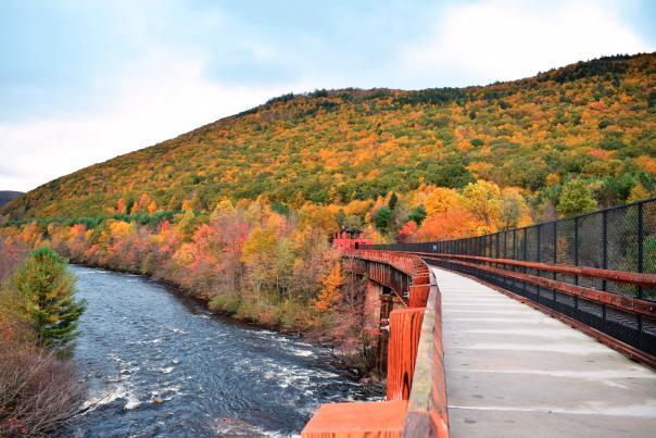 Lehigh Gorge State Park D&L Trail in the Poconos
