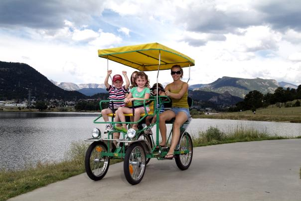 family pedal cart lake estes