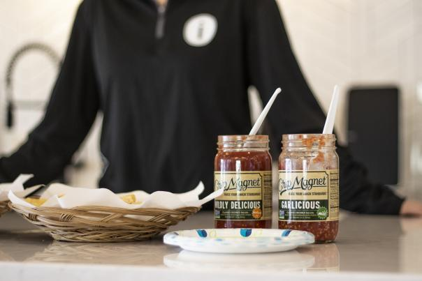 Chip Magnet Salsa Sampling in Experience Center