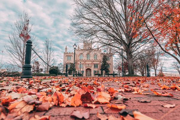 Fall at Old State Capital building