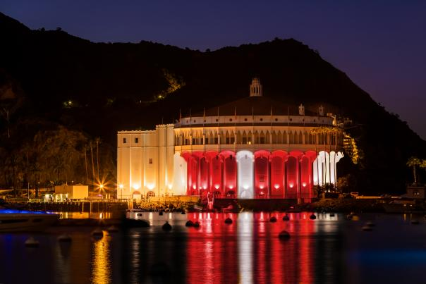 Catalina Casino in Red and White