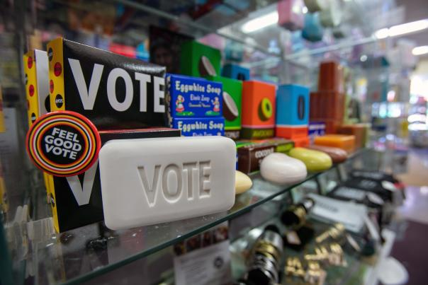 Soap that says Vote