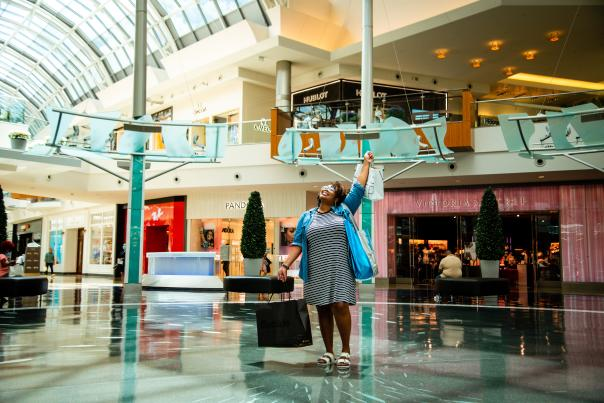 Influencer Katrina Dandridge shopping in the Mall at Millenia
