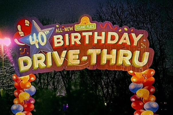 Sesame 40th Birthday Drive Thru