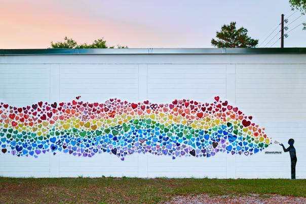 Diversity Mural in the Mills 50 area of Orlando