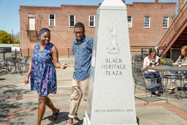 Black Heritage Plaza Marker