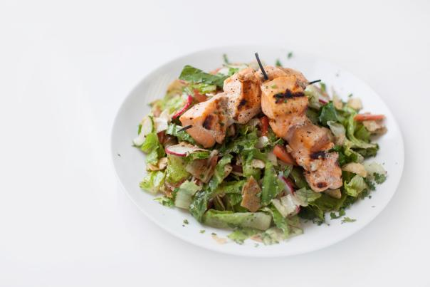 Salmon Salad at Meddy's