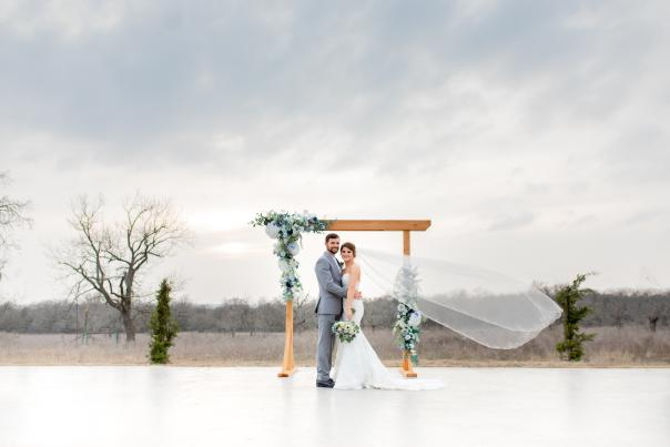 Outdoor wedding header