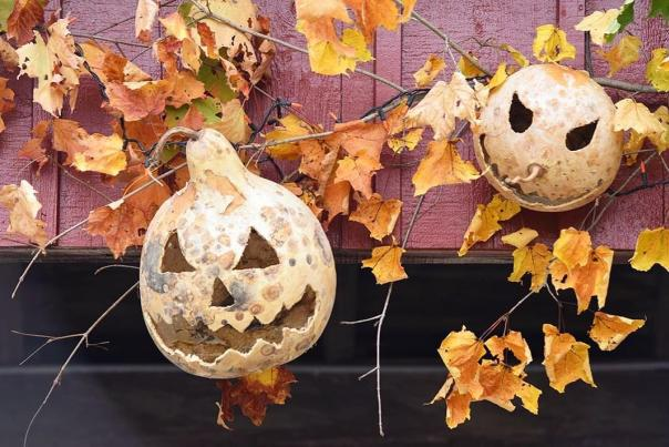Halloween Decorations at Genesee Country Village and Museum