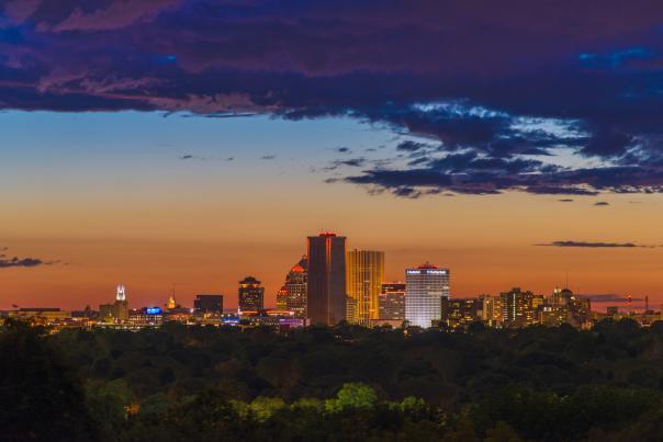 Rochester Skyline at Night