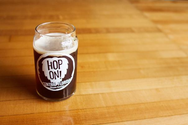 Hop On Brewery Tours beer glass