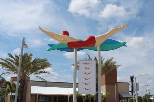Iconic Trail Jantzen Diving Girl Sculpture Daytona Beach