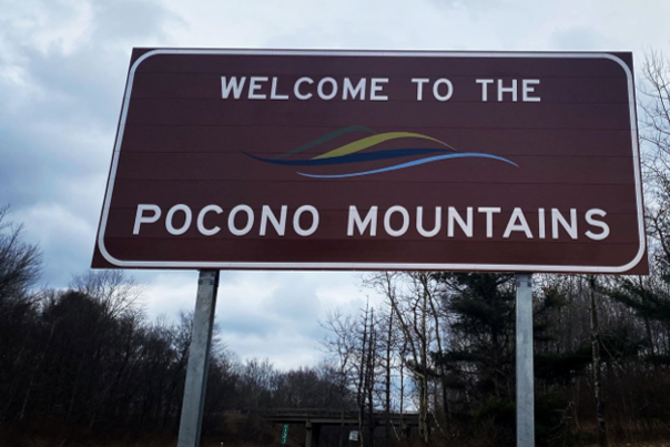 New Welcome Signs Promote the Pocono Mountains