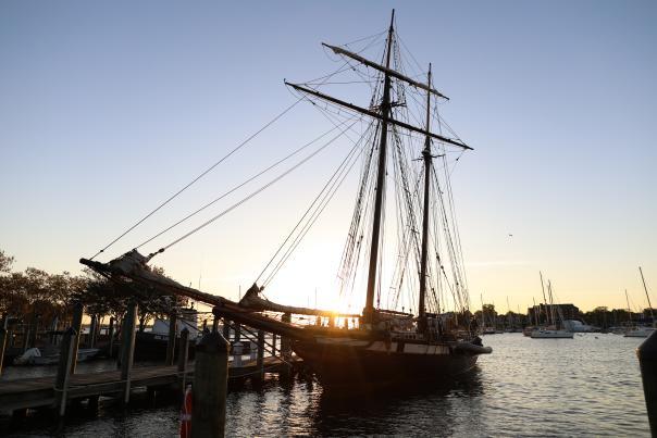 The Tallship Lynx in the Annapolis Harbor.