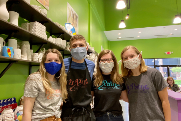 uPaint Employees with Face Masks