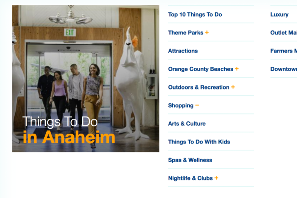Visit Anaheim Launches New Website