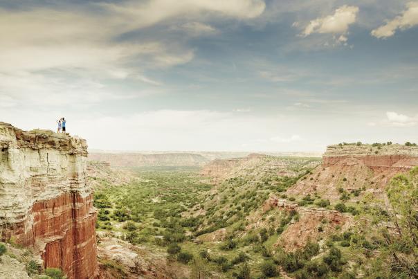 Palo Duro Canyon-Couple on Mountain-H