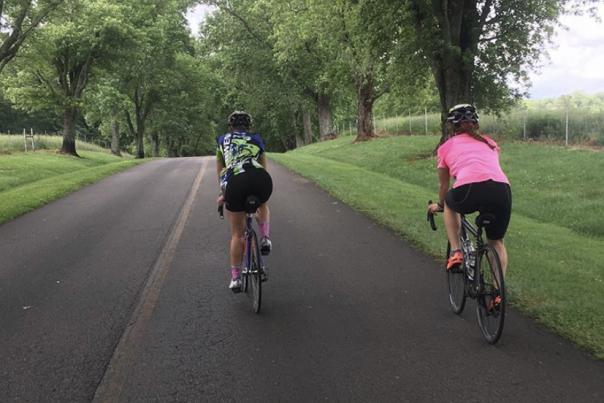 Katelyn Carlson and Katelyn Newsome_Biking