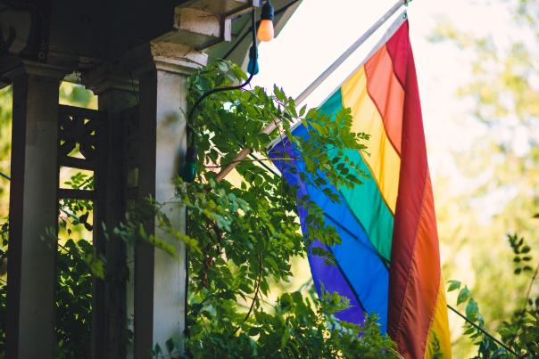 Spider House Pride Flag. Credit Jacob Weber Photography.