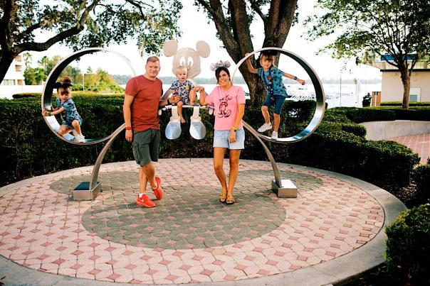 Influencer Katie Ellison and her family at Walt Disney World Resort