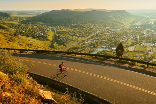 Sunrise bike lookout