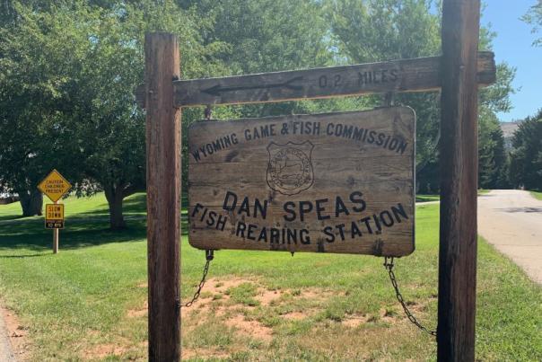 Dan Speas Fish Hatchery Sign