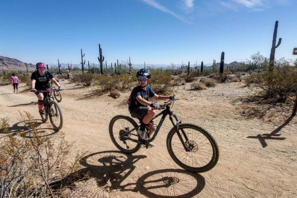 Family Biking at San Tan Mountain Regional Park