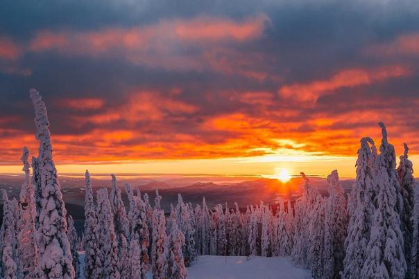 Winter Sunset at Big White
